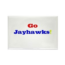 Go Jayhawks! Rectangle Magnet
