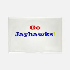 Go Jayhawks! Rectangle Magnet