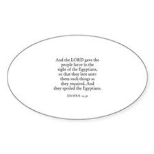 EXODUS 12:36 Oval Decal