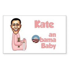 Kate - an Obama Baby Rectangle Decal