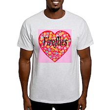 Love Fireflies Ash Grey T-Shirt