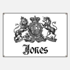 Jones Vintage Crest Family Name Banner