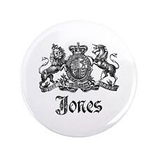 "Jones Vintage Crest Family Name 3.5"" Button"