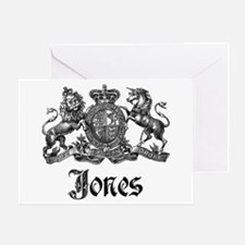Jones Vintage Crest Family Name Greeting Card
