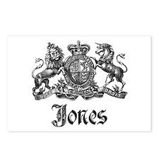 Jones Vintage Crest Family Name Postcards (Package