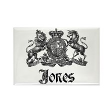 Jones Vintage Crest Family Name Rectangle Magnet