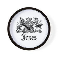 Jones Vintage Crest Family Name Wall Clock