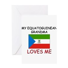 My Equatoguinean Grandma Loves Me Greeting Card