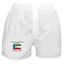 My Equatoguinean Grandma Loves Me Boxer Shorts
