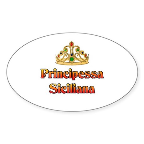 Principessa Siciliana Oval Sticker (10 pk)