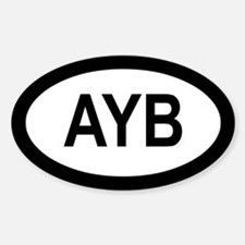 AYB Oval Decal