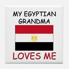 My Egyptian Grandma Loves Me Tile Coaster