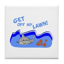 Get off of my lawn! Tile Coaster