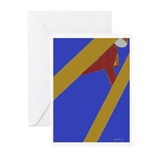 Ski Jump Greeting Cards (Pk of 10)
