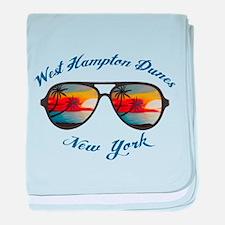 New York - West Hampton Dunes baby blanket