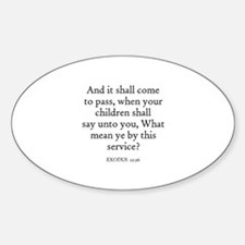 EXODUS 12:26 Oval Decal