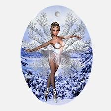 Snowflake Fairy Oval Ornament
