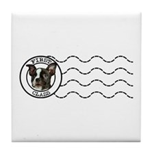 First Class Boston Terrier Tile Coaster
