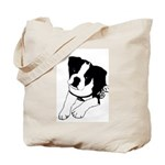 Inquisitive Boston Terrier Puppy Tote Bag
