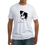 Inquisitive Boston Terrier Puppy Fitted T-Shirt
