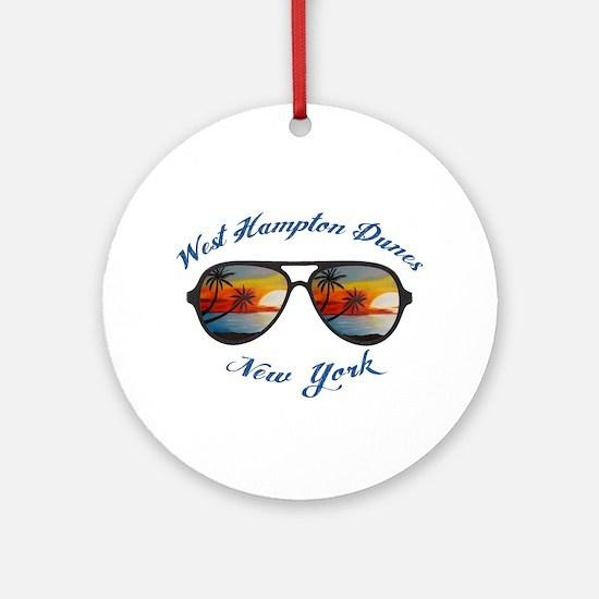 New York - West Hampton Dunes Round Ornament