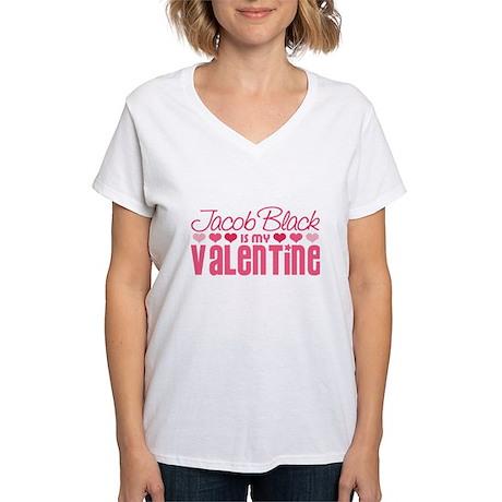 Jacob Twilight Valentine Women's V-Neck T-Shirt