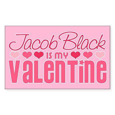 Jacob Twilight Valentine Rectangle Sticker