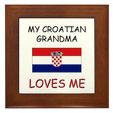 My Croatian Grandma Loves Me Framed Tile