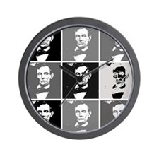 Black and White Pop Art Lincoln Wall Clock