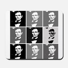 Black and White Pop Art Lincoln Mousepad