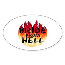 Bride From Hell Oval Decal