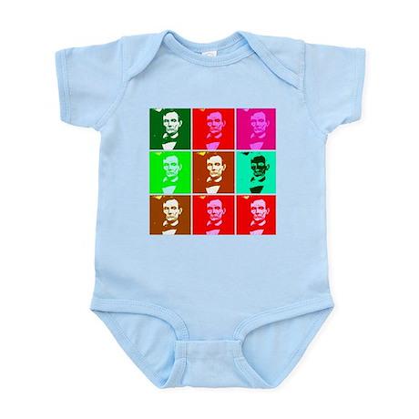Warholesque Pop Art Lincoln Infant Bodysuit