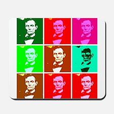 Pop Art Style Lincoln Mousepad