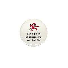 Can't sleep El Chupacabra Mini Button (100 pack)
