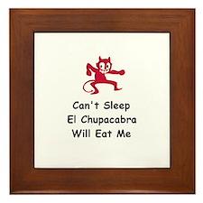 Can't sleep El Chupacabra Framed Tile