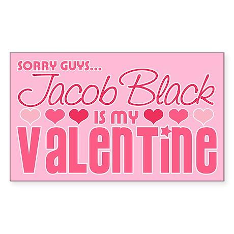 Jacob Black Valentine Rectangle Sticker