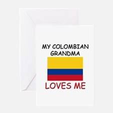 My Colombian Grandma Loves Me Greeting Card