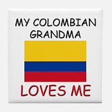 My Colombian Grandma Loves Me Tile Coaster