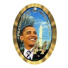 """""""Obama Inauguration"""" Oval Ornament"""
