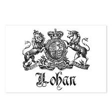 Lohan Vintage Crest Family Name Postcards (Package