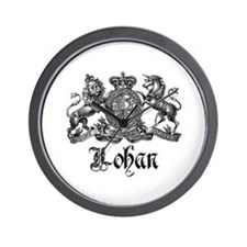 Lohan Vintage Crest Family Name Wall Clock