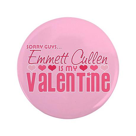 """Emmett Twilight Valentine 3.5"""" Button"""