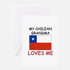 My Chilean Grandma Loves Me Greeting Card