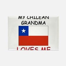 My Chilean Grandma Loves Me Rectangle Magnet