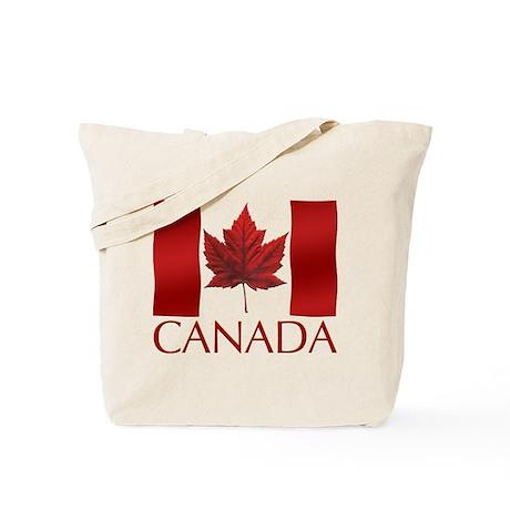 Canada Flag Tote Bag Maple Leaf Souvenir Art