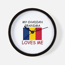 My Chadian Grandma Loves Me Wall Clock