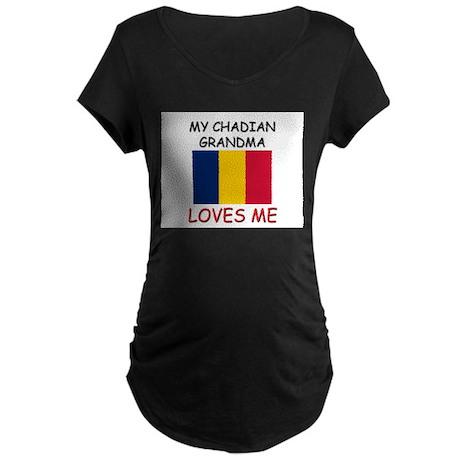 My Chadian Grandma Loves Me Maternity Dark T-Shirt