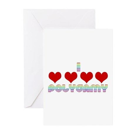 I Love Polygamy Greeting Cards (Pk of 10)