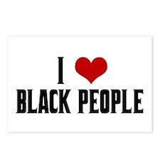 I Love Black People Postcards (Package of 8)