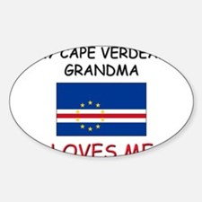 My Cape Verdean Grandma Loves Me Oval Decal